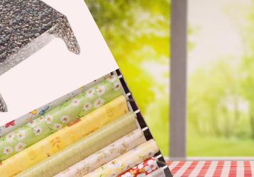 Wachstuchtischdecken in bunten Farben und Mustern